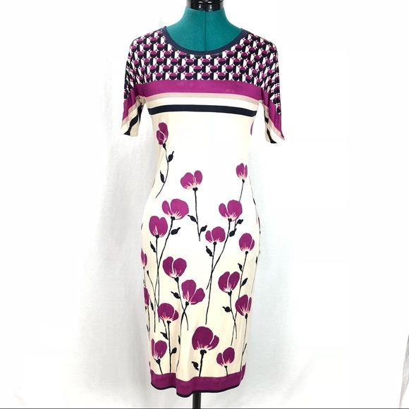 Tory Burch Dresses Silk Spring Flower Dress Small Poshmark